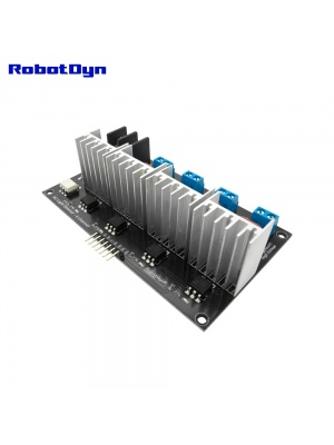 AC Light Dimmer Module, 4 Channel, 3.3V/5V logic, AC 50/60hz, 220V/110V Angle-Front
